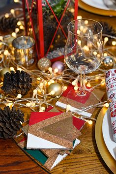 DIY Christmas Coasters - Add a personalised touch to your Christmas table setting this year with stylish one-of-a-kind DIY coasters. Get creative with a selection of festive colours to create a set of your own coasters for guests to enjoy.