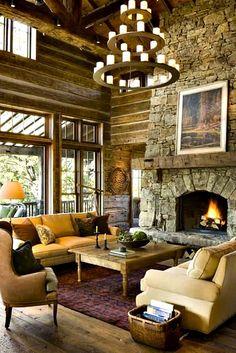 "Five Ways To Design A Lodge - adore this blog - from ""adoreyourplace.com"""