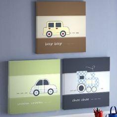 Set de cuadros vehiculos