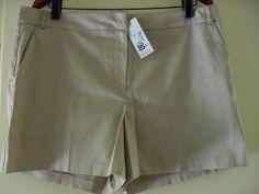 womens shorts size 16 beige - cotton/elastane - NWT