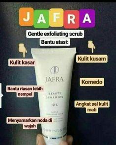 Buat kamu yg bermasalah dengan yg komedoan/kulit kusam pakai Scrub Jafra.  Untuk kulit Normal/kering.  Tidak untuk yg berjerawat yaa..  Yg ingin bertanya lbh lnjut bisa hbgn via WA 0821 1193 4201