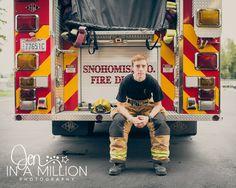 Senior boy firefighter session. Fire station session. Jen In A Million Photography.