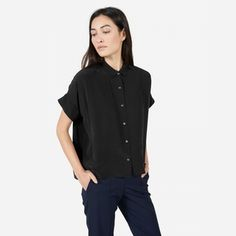 The Silk Square Shirt by Everlane - ethical fashion brand for gorgeous basics