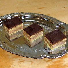 Bajadera Pastelito de Croacia es una receta para 8 personas, del tipo Postres, de dificultad Media y lista en 50 minutos. Fíjate cómo cocinar la receta.     ingredientes   - 0.5 kg de azúcar  - 15 cucharadas de agua  - 150 g de margarina  - 20 galletas de María desmenuzadas  - 200 g de nueces ralladas  - 15 g de chocolate para cocinar