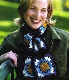 crochet granny square scarf - Google Search