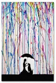 "Trademark Fine Art 'Sempre' by Marc Allante Ready to Hang Canvas Wall Art (16""x24"")"