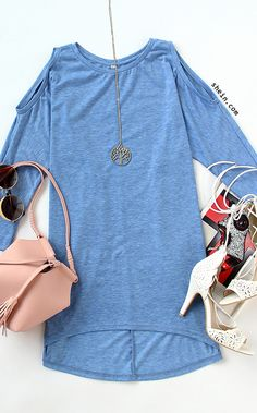 Must-have loose fit shirt outfit for women. $10.99 with 40% off 1st order!