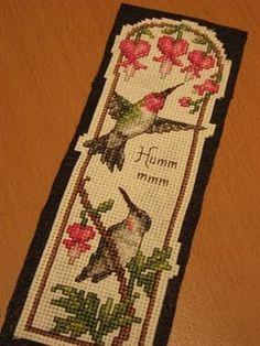 Hummingbird Cross Stitch Bookmark