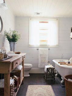 Rustic elements... Laundry Room Interior Design Ideas - Home Bunch via BHG