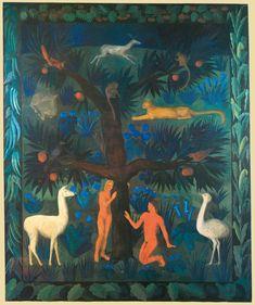 "monkeysinarthistory: ""Noémi Ferenczy: Adam and Eve, Ferenczy Museum, Szentendre "" Art, Painting, Illustration"