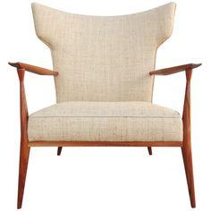 Paul McCobb Wingback Lounge Chair #1329 c1950's Directional?