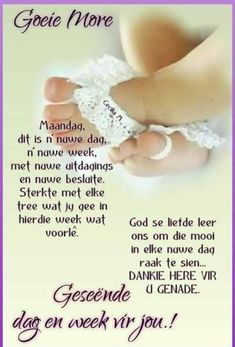 Lekker Dag, Christian Poems, Evening Greetings, Goeie More, Good Morning Quotes, Gold Rings, Engagement Rings, Crystals, Words