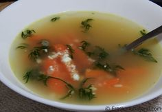 Carrot & Dill Soup Here is a simple, heart-warming soup recipe that is sure to please the entire family and has many beneficial properties of dill and cumin. Soup Recipes, Healthy Recipes, Cook At Home, Easy Food To Make, Health Foods, Ayurveda, Carrots, Healing, Wellness