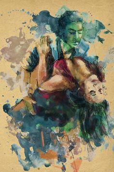 Jazz Painting - Tango 7c by Maryam Mughal