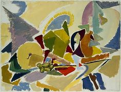 Still Life on a Table, Lee Krasner (American, Brooklyn, New York New York), Oil on paper Willem De Kooning, Peggy Guggenheim, Piet Mondrian, Jackson Pollock, Abstract Expressionism Art, Abstract Art, Abstract Paintings, Nocturne, Matisse