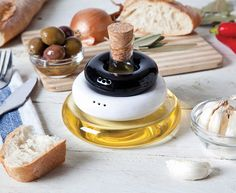 A Condiment Holder With A Thoughtful Design That Saves Space On Your Tabletop