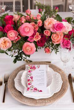 Bougainvillea Wedding At The Great Hall - Wedding Decor Toronto Rachel A. Star Wedding, Green Wedding, Spring Wedding, Wedding Table, Floral Wedding, Wedding Colors, Wedding Coral, Fuschia Wedding Flowers, Wedding White