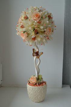 Автор Марина Крайнева. Paper Flowers Craft, Felt Flowers, Flower Crafts, Diy Flowers, Flower Decorations, Tulle Crafts, Diy And Crafts, Floral Centerpieces, Floral Arrangements