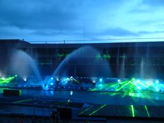 Manila Ocean Park - Acquatica Fountain and Laser Show. They lend me a rain coat and offered me some personalize photos as a souvenir.