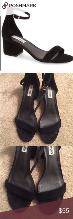 Steve Madden Irenee size 8 Black suede sandals. Normal wear shown. Comfortable Steve Madden Shoes Sandals