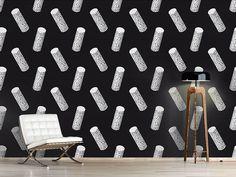 Design #Tapete Zylinder Mit Dekor Skateboard, Design, Self Adhesive Wallpaper, Top Hats, Wall Papers, Monochrome, Decorating, Skateboarding, Skate Board