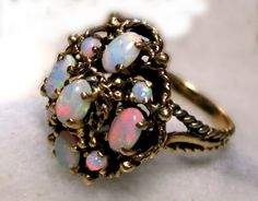 1850 opal and 15 carat gold. my ring.