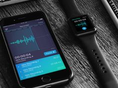 Voice Recorder UI for iOS designed by Marina Sheremet. Connect with them on Dribbble; Ios Ui, Speech Recognition, Ios Design, Voice Recorder, The Voice, Mobile Ui, Apps, Design Inspiration, App