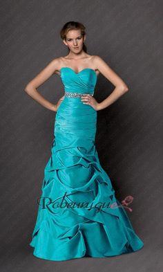 Bustier Robe Turquoise de Bal A Ligne a Paillettes RUC021 #robe #turquoise #bal #robeunique