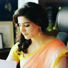 So cute Samantha In Saree, Samantha Ruth, Men's Fashion, Fashion Week, Beauty Full Girl, Beauty Women, Samantha Images, Thing 1, Fashion Designer