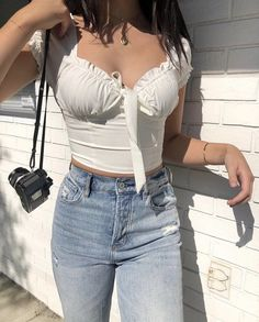 25 Casual Summer Outfits for Teen Girls and Women for Cute Comfy Simple Style Retro Outfits, Mode Outfits, Trendy Outfits, Vintage Outfits, Pacsun Outfits, Girly Outfits, Curvy Girl Outfits, School Outfits, Casual Summer Outfits For Teens