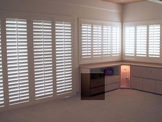 Danmer window shutters are 100% custom made to fit any type or shape of window. Danmer Shutters offers countless options in frames, colors and finishes - even custom-color matching. We fit our shutters to your home décor, not the other way around. Kitchen or bath? Try our water resistant Thermalite shutters. Rancho Cordova, Custom Shutters, Interior, Blinds, Granite Bay, House, Custom Color, Wood Windows, Home Decor