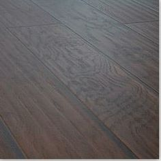 Lamton Hickory Ebony hand scraped laminate flooring....great alternative for hardwood floors