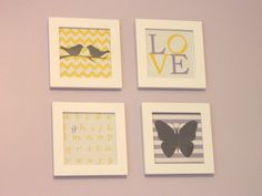 yellow and grey nursery | ve always dreamt of decorating a purple nursery so when I found out ...