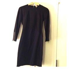 Black and navy bodycon Zara dress with panel det Black and navy bodycon Zara dress with ribbed panel detail. Worn once Zara Dresses