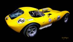 Bill Thomas Cheetah - Thomas-built 377 cu in L) displacement, dual air-meter, fuel-injected Chevy small-block based engine. Nascar, Chevy, Chevrolet, Classic Car Insurance, Yellow Car, Vintage Race Car, Drag Cars, Performance Cars, Expensive Cars