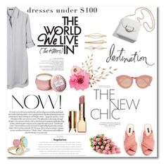 """Dresses Under $100"" by nina-lala ❤ liked on Polyvore featuring United by Blue, MANGO, Ippolita, Clarins, Voluspa, Karen Walker, Heidi Swapp and Cara"