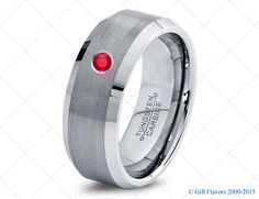 Tungsten Wedding Band,8mm,Mens Wedding Bands,Red Ruby Band,Mans,Mens,Carbide,Male,Diamond RIng,Men,His,Hers,Set,Size,Him,Custom Made
