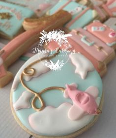 """What if i fall? O,but my darling, What if you fly! Fondant Cookies, Sugar Cookie Frosting, Galletas Cookies, Royal Icing Cookies, Cupcake Cookies, Cupcake Toppers, Cookies For Kids, Fancy Cookies, Iced Cookies"