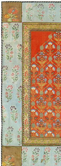 detail from a silk cover with metallic-wrapped threads. Believed to be 18th century North Indian. Collection of The Textile Museum and included in The Sultan's Garden: The Blossoming of Ottoman Art.