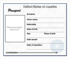 British Passport Child Entry  Sunday School Passports