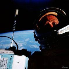 Buzz Aldrin space selfie