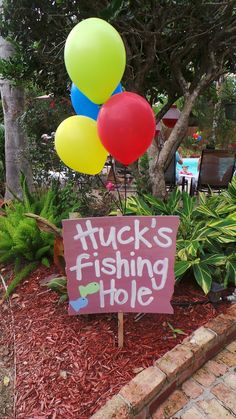 Son birthday fishing hole