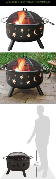 Landmann 28345 Big Sky Stars and Moons Firepit, Black #fpv #drone #racing #gadgets #plans #parts #fire #kit #tech #technology #cooking #outdoor #pit #camera #shopping #products