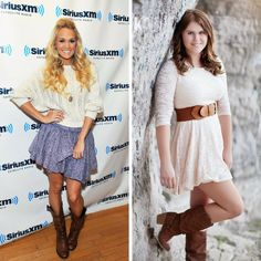 Totally feeling the COUNTRY vibe with this Carrie Underwood impersonation by Shania M.!  #college #celeblookalike #scholarship #celebrity
