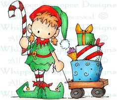 Elissa Elf - Christmas Images - Christmas - Rubber Stamps - Shop