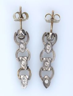 White Gold & Diamond Earrings for auction. Please see attached appraisal image for more information. White Gold Diamond Earrings, White Gold Diamonds, Auction, Canada, Personalized Items, Antiques, Jewelry, Antiquities, Antique