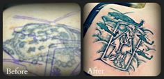 Stacy's Before and After Tattoo I did 8)