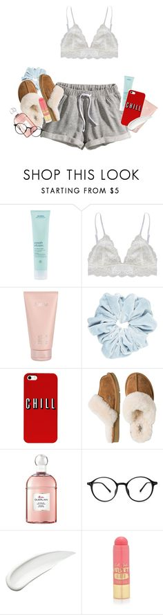 """wokeuplikethis*"" by petalprada ❤ liked on Polyvore featuring H&M, Aveda, Humble Chic, Lalique, UGG Australia, Guerlain, Koh Gen Do and L.A. Girl"