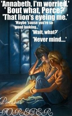 Percy Jackson and the Lightning thief what Annabeth was really thinking....