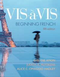 """Vis-à-vis  This is a great textbook!  Don't be fooled by the """"Beginning French"""" subtitle.  there's plenty of vocabulary, grammar, conjugation, etc. to make this an excellent choice for high school French III/IV."""